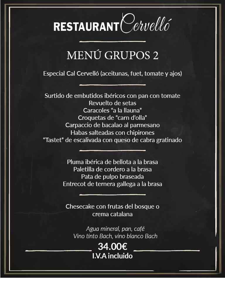 Menús para grupos en Tarragona